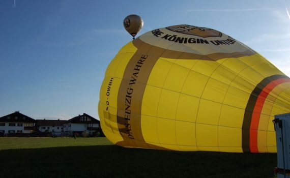 Ballonfahrt Start vor Ort